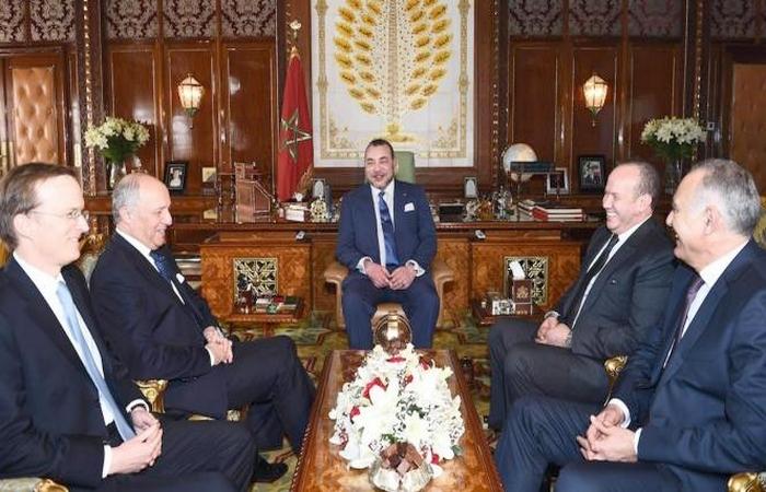 Laurent Fabius reçu par le roi Mohammed VI