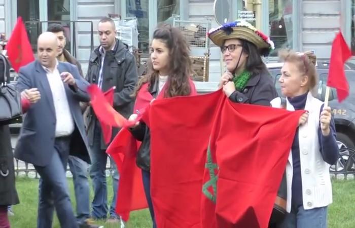 CESAM BRUXELLES :  Marche de solidarité avec le Royaume du Maroc Le mercredi 23 mars 2016 sur l'esplanade du Parlement Européen à Bruxelles