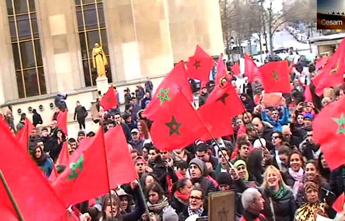 Camera CESAM (1/3) : La Manifestation de Paris pour le Sahara marocain