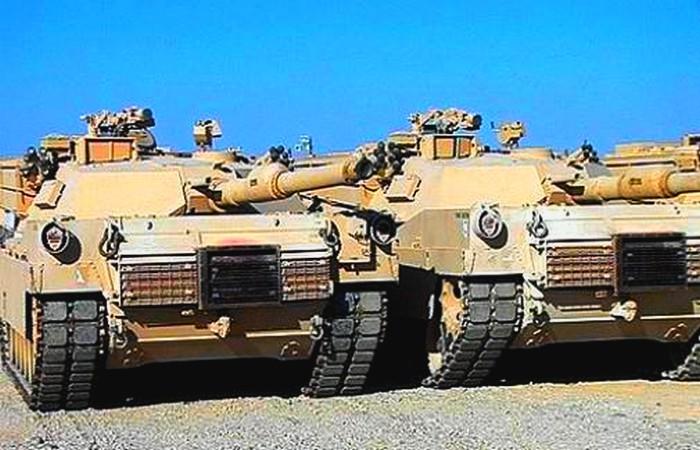 Cérémonie de réception du Maroc  de ses premiers Chars Abrams américains