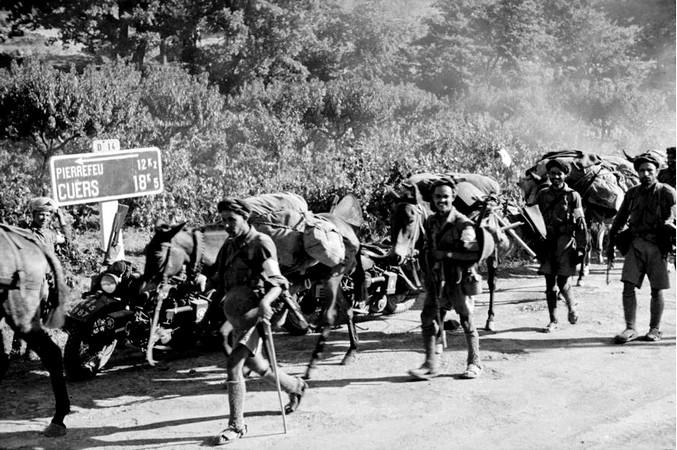 Le 15 août 1944 : Les Goumiers marocains dans le débarquement des Alliés en Provence